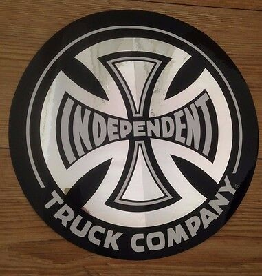 INDEPENDENT TRUCKS SKATEBOARD STICKER LARGE 12 inch - will be folded when posted