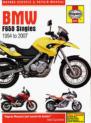 Haynes Manual Bmw F650GS / Dakar 2000-2007 HAYNES SERVICE MANUAL WORKSHOP MANUAL