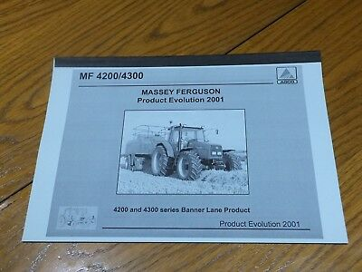 Mf4200/4300----Rare----List Of Modsifications & When To These Tracotors Book