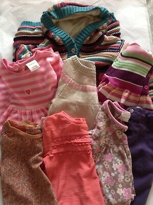 Girls Clothing Bundle, Age 9 - 12 Months, Various Brands.