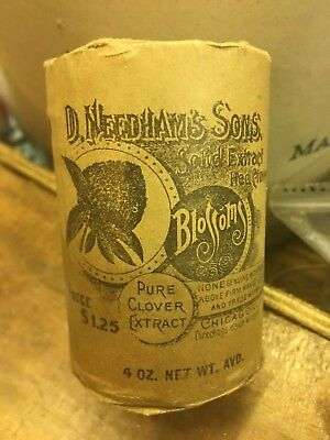 Needham's Solid Extract Red Clover Chicago Antique Medicine Pharmacy Druggist