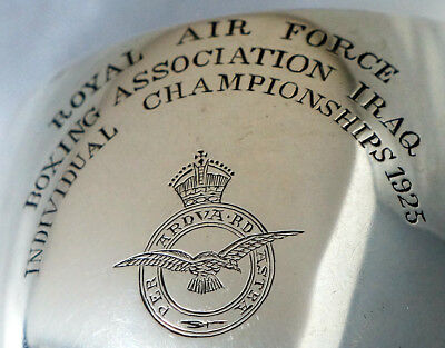 Sterling Silver Colonial Boxing Trophy Goblet. Royal Air Force (RAF) Iraq 1925.