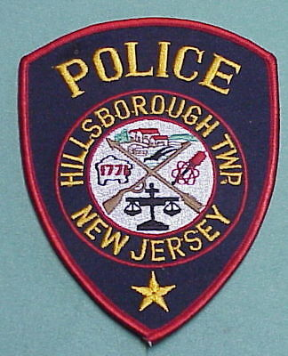 Hillsborough Twp.  New Jersey  Nj  Police Patch   Free Shipping!!!