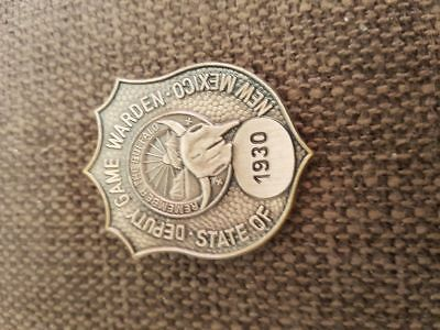Obsolete Police Badge Deputy Game Warden New Mexico