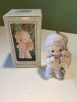 """Precious Moments Ornament """"wishing You The Sweetest Christmas"""" 530212"""