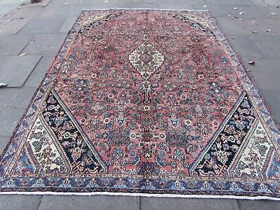 Old Traditional Hand Made Persian Rugs Oriental Wool Pink Large Carpet 309x220cm