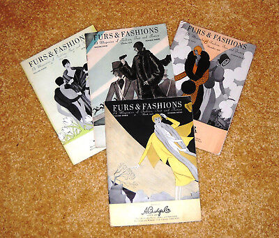 1928 Furs And Fashions Deco Catalogs