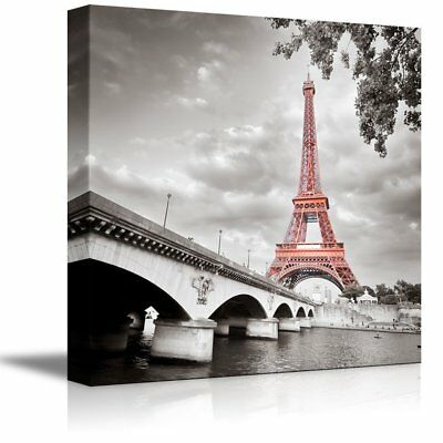 FRAMED Paris Eiffel Tower Canvas Print Modern Picture Wall Art Home France Decor