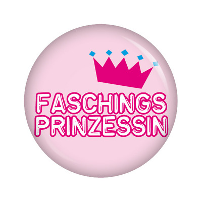 Kiwikatze® Fest - Faschingsprinzessin 37mm Button Fasching Halloween