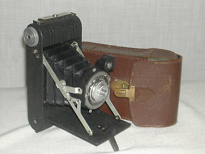 Vintage Spartus Camera Corp. Folding Camera With Leather Case