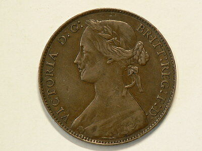 Great Britain 1861 Penny  Queen Victoria #G7593