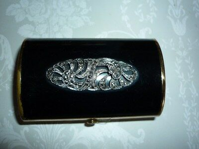 Antique Vintage Marcasite Sewing Etui Cottons Case Box