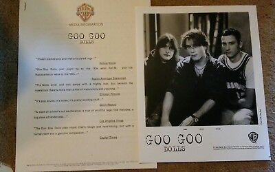 GOO GOO DOLLS 1993 Press Kit With 8x10 Promo Photo