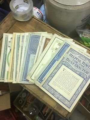13 1909-12 Abbott Alkaloidal Chicago Books Antique Medicine Pharmacy Apothecary