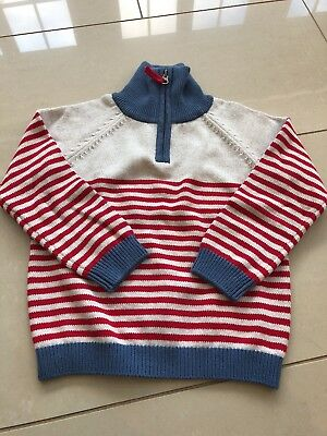 BNWT White Company Boys zip neck jumper age 3-4