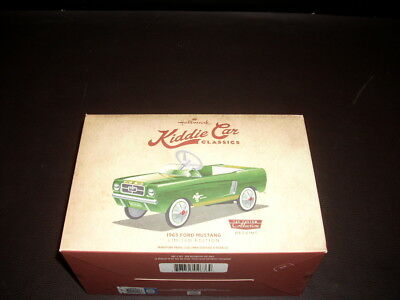 Hallmark Kiddie Car Classics Miniature Pedal Car 1965 Ford Mustang - Green NIB