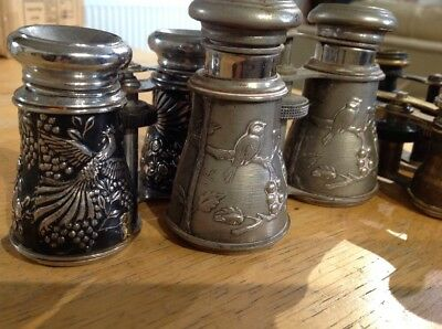 Vintage Opera Glasses with  Scene ,birds , For Parts Or Restore