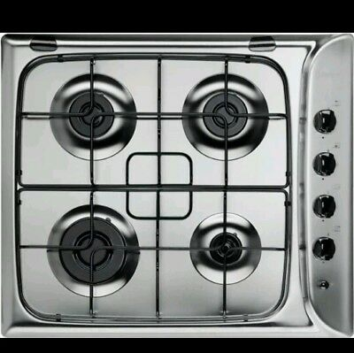 Indesit PIM640ASIX 60cm 4 Burner Gas Hob, Stainless Steel new cooker