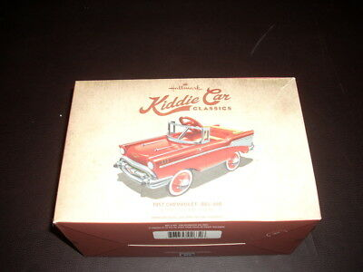 Hallmark Kiddie Car Classics Miniature Pedal Car 1957 Chevrolet Bel-Air NIB