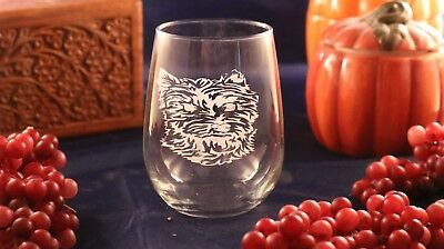 Etched Stemless Wine Glass - West Highland Terrier