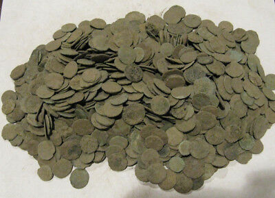 Wholesale lot of 1100 uncleaned Roman Coins. Over 4 pounds *SHIPS FROM U.S.*