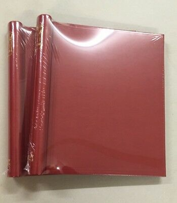 Stanley Gibbons Senator Standard  Albums X2 New Red Leather Gold Embossed