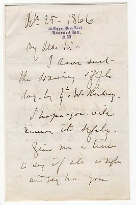 Edward Duncan 1803-82 English master painter. 3 page Autograph letter signed.