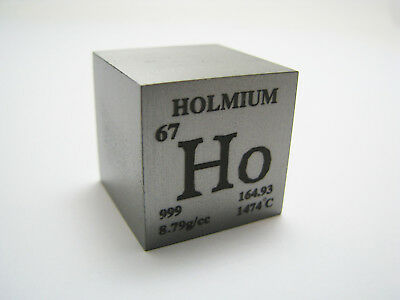 1 inch 25.4 mm Pure Holmium metal element cube periodic table 99.9% pure 144g