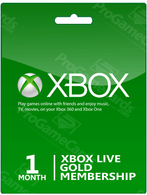 XBOX LIVE 1 month GOLD Membership | XBOX One/360