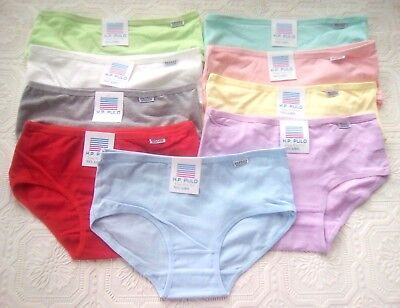 Set of 9 colors. Girl's, Children, teenager, Pretty Cotton Panties. size XL 16