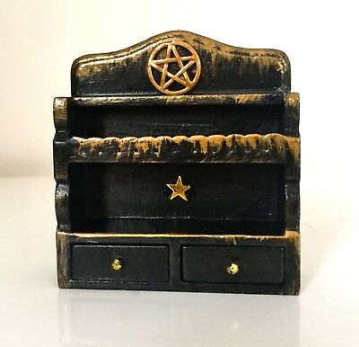 Gorgeous Dolls House Witchy Shelves and Drawer Unit - OOAK