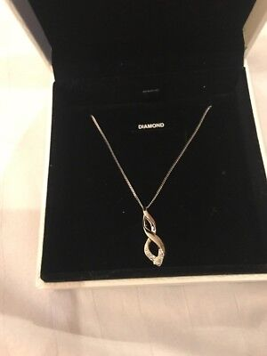 Diamond And Silver Warren James Necklace