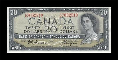 1954 BANK OF CANADA QEII $20 **Beattie & Coyne** (( EF ))