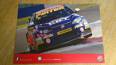 BRAND NEW BTCC 2015 MG Triple Eight Official A4- Poster #77 ANDREW JORDAN,S CAR