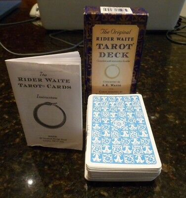 The Original Rider Waite Tarot Deck With Instruction Booklet