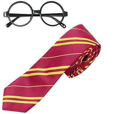 Striped Tie with Novelty Glasses Frame for Cosplay Costumes Accessories for H...
