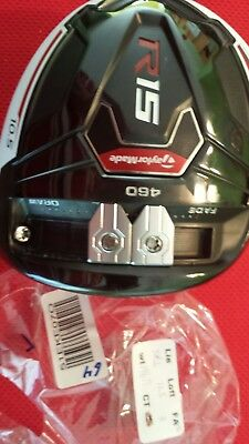 TaylorMade R15 460 Driver Head Only 10.5° TOUR ISSUE 51EKE070 HOT CT:244