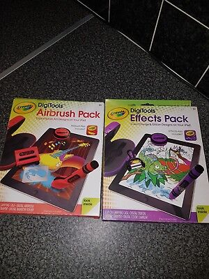 **BNIB** 2 X CRAYOLA DIGITOOLS FOR IPAD! effects pack and airbrush pack