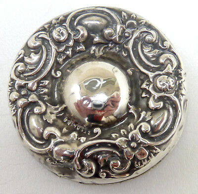 Sterling Silver Topped Trinket Box Or Dressing Table Jar