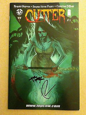 Cutter #1 Signed Variant Image Top Cow Minotaur Robert Napton 1St Printing Nm-