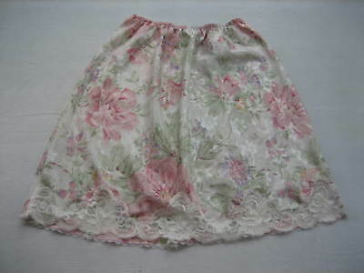DEENA Pastel Floral Polyester Half Slip - Lace Trim - Style 8104R-21 Size Large