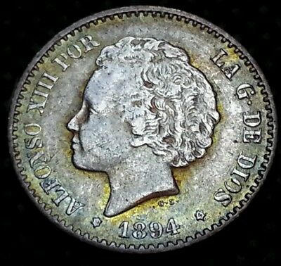 50 centimos plata 1894 Alfonso XIII