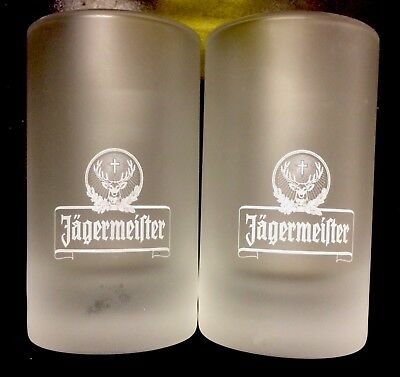 Jagermeister Shot Glasses x2 New. Great Christmas Stocking Filler.