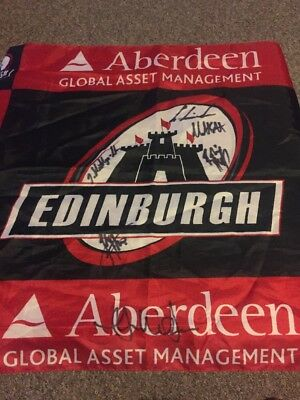 Edinburgh Rugby Signed Flag Laidlaw