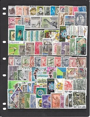 Asia Mainly Phillipines Q053 Collection Of Cancelled Stamps