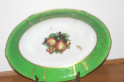 Antique Rare Soho Pottery Solian Wer Oval Plate