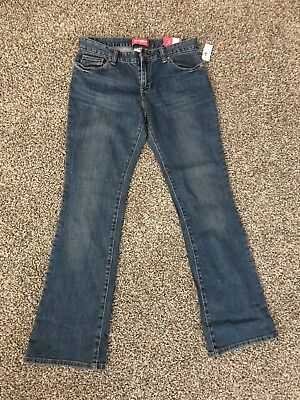 NWT Girl's OLD NAVY Boot-Cut Jeans Size 12 Plus Adj Waist Stretch FREE SHIP!