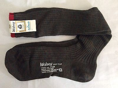 Vintage Wolsey Mens Long Socks Size 10 1/2 80% Wool 20% Nlon (561)
