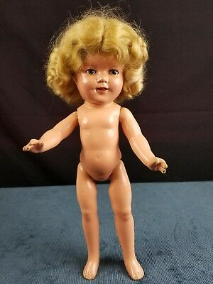 Vintage Ideal Shirley Temple 13in Composition Doll Org Mohair Wig Clear Eyes!