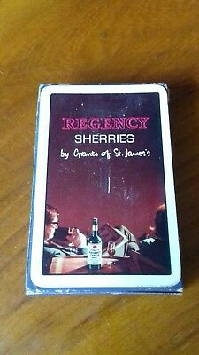 Regency Sherries Playing Cards Boxed and Sealed
